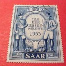 Saar Stamp Scott # 247 A75 May3,1953 Stamp Day