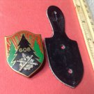 Vintage Enameled French Militaire Badge pin G 1832 from Drago of Paris
