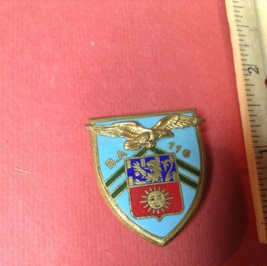Beautiful Vintage Enameled French Militaire pin by Drago of Paris A-596