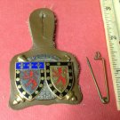 Vintage Enameled French Militaire Badge pin by Drago of Paris H787