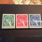 "German Occupation Semi-Postal Set 9NB1-9NB3 ""Offering Plate & Berlin Bear"" !!"