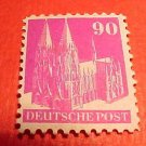 German Scott's #657a. A129 90 pf Perf.14 Cologne Cathedral