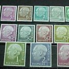 """German Scott's set #702-721 A150 """"President Theodor Heuss"""" 1954-60"""