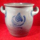 "Antique French Salt Glazed ""Confit Pot a' Gras ""circa 1850"