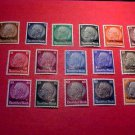 France Scott #N43-58 A64 Occupation Stamps 1940 Lorraine under German Occupation