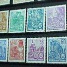 "German GDR Scott's Full set #187-204 A43 ""Types of 1953 Redrawn"" Mint !"