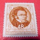 """German GDR Scott's #186 A51 """"Franz Schubert"""" Nov.13,1953"""