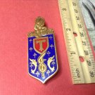 Stunning Vintage Enameled French Militaire Pin by Drago G1563