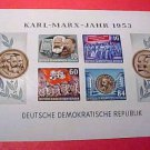 German Scott's Souvenier sheet #146a A39 Karl-Marx-Jahr 1953