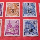 "German GDR Scott's Full set #216-223 A43 ""Types of 1953 Redrawn"" and surcharged!"