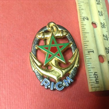Vintage Enameled French Militaire pin by Drago G1933