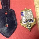 Vintage Enameled French Military Badge pin by Drago #433