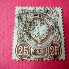 German Scott's #33 A6 25pf 1872 Center Embossed