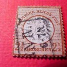 German Scott's # 19 A4 2 1/2 gr 1872 Center Embossed