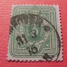 German Scott's #29 A4 3pf 1872 Center Embossed