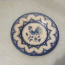Vintage Faience Rooster plate signed by reknowned Spanish Artist Pedraza Puente, 13