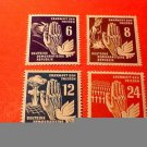 """German Democratic Republic Scott's #71-74 A14' Hand between Dove & Tank""""12/15/50"""