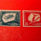 "German Democratic Republic Scott's #76-77 ""Winter Sports"" Feb.3,1951"