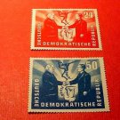 "German Democratic Republic Scott's #80-81 ""Polish-German Handshake"" Apr.22,1951"