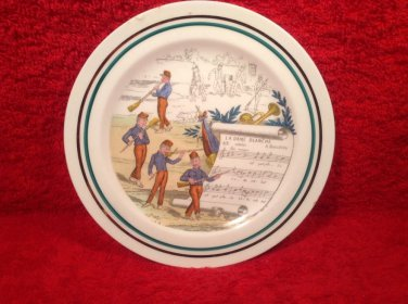 """French Petite Decortive Plate signed by Artist ! """" La Dame Blanche"""""""