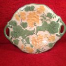 Vintage French Majolica DoubleHanded Serving Plate