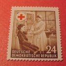 "German Democratic Republic Scott's #177 A47 ""Nurse applying Bandage"" Oct.23,1953"
