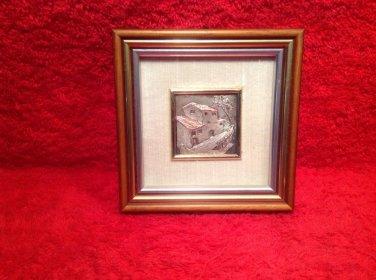 Sterling Silver .925 Italian Countryhome Portait, Bassorilievo D'Arte