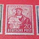 German Scott's #662-664 A132 Herman Hildebrant Wedigh April 24,1949