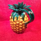 Vintage French Majolica Pineapple Pitcher signed by Artist