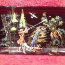 "Longwy Vintage Duck Hunter Platter Tray Made In France ""Waterfall"""