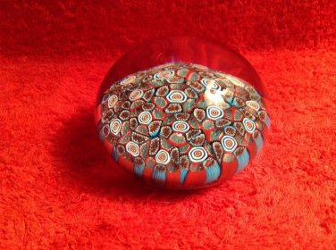 "Murano millefiori ""thousand Flowers"" Paperweight, #10"