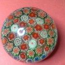 Italian Vintage Venitian Murano Art Glass Millefiori Caned Paperweight, #12