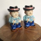 Vintage Majolica Barbarque Grilling Tool Holders Set Of Two (2)