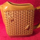 "French Vintage Majolica ""Honey Comb"" Pitcher from St Clement, France"