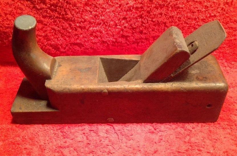 Antique German Wood Plane Tool by H.Hommel of Mainz