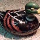Vintage French Faience Duck Pate Turrine by Michel Caugant ! #53
