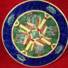 "Beautiful Large (12"") Majolica Pottery Plate with Lily of the Valley & leaves"