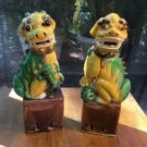 Antique Pair of Rare Foo Dogs , One w Foo Cat from Estate Sale in Paris, France, c54