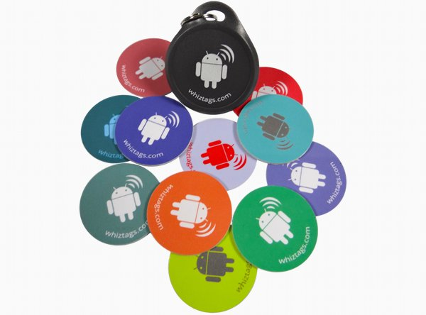 WhizTags Android Edition NFC Tags - 10 Pack - 1k Mifare Compatible Chip