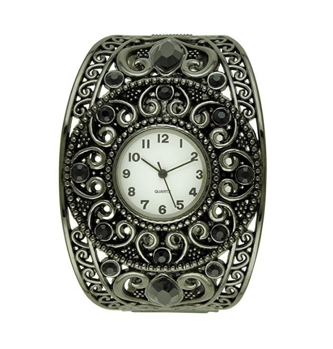 Women's Fancy Scrollwork Bangle Watch