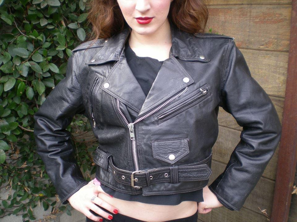 Leather Bolero-Cut Jacket