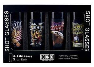 Lynyrd Skynyrd Shot Glasses Set (4 Pack)