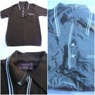 Deadstock 60s BAN LON Vintage Polo Shirt Men S Retro Hipster Rat Pack mod brown