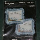 NOS sealed JANLYNN PILLOW French Country Sheep COUNTED CROSS STITCH KIT 52-76