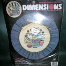Dimensions Stamped Cross Stitch Kit Welcome to The Country #3161 discontinued