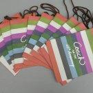 "New 10 Coach Legacy Stripe Gift Shopping Bags 8"" X 10"" X 5"""