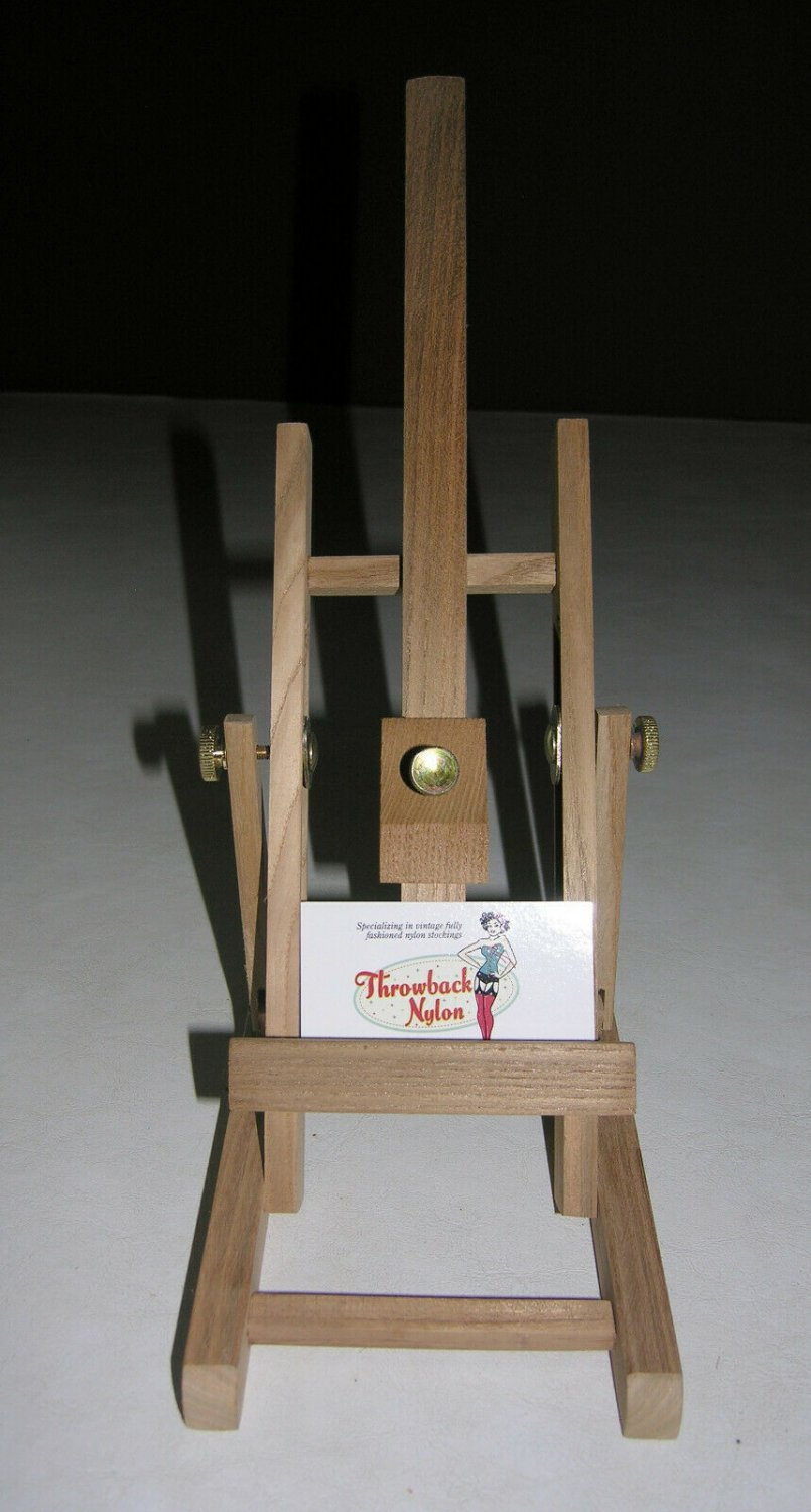"""Vintage 17"""" Wood Easel Display for Small Art Books sign holder table top"""