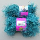 NOS 2 skeins Discontinued Lion Brand Fun Fur Yarn Aquamarine New
