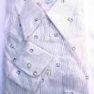 Deadstock VTG 70s L/S Cotton Poly button up shirt retro hipster S 14 1/2 / 32