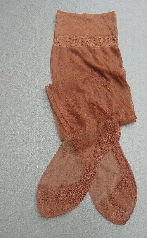 "3 pair 11 X 36"" vintage seamed nylon garter stockings full fashioned outsize"